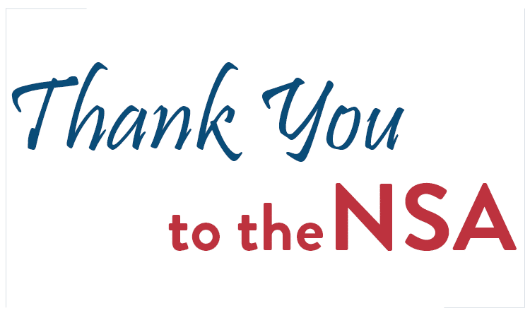 Thank You to the NSA